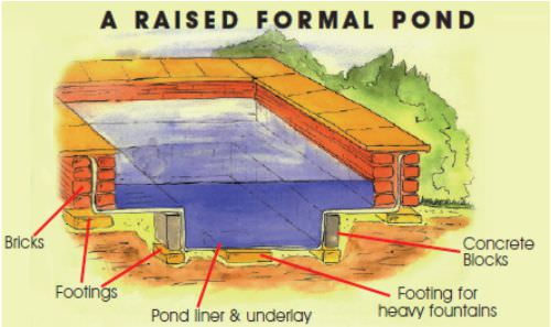 Raised pond design tips for Raised koi pond construction
