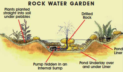 Informal pond design tips for Pond building tips