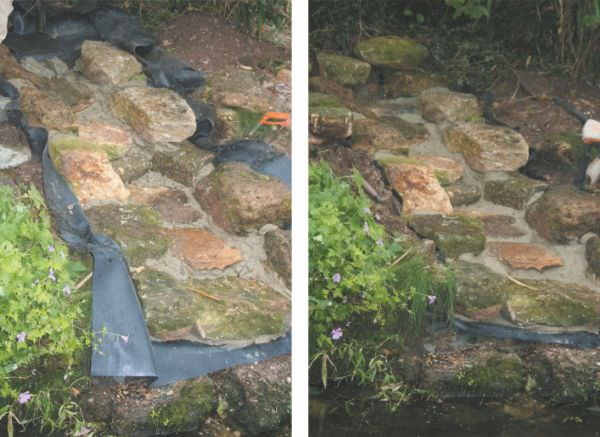 Building a waterfall or stream for Build your own waterfall pond